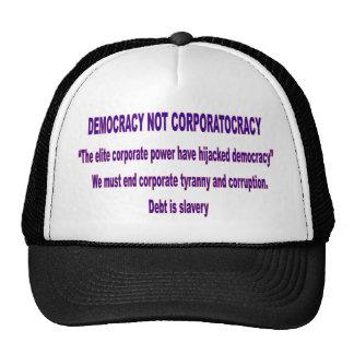 Not Corportacracy Mesh Hats