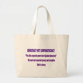 Not Corportacracy Jumbo Tote Bag