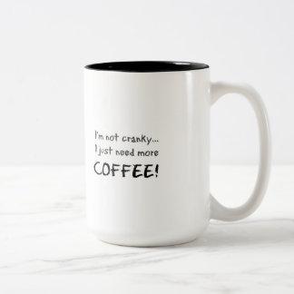 Not Cranky Two-Tone Coffee Mug