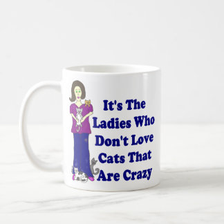 (Not Crazy) Cat Lady Basic White Mug