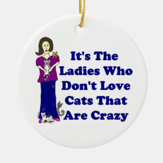(Not Crazy) Cat Lady Christmas Ornament