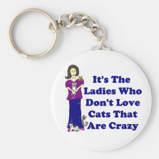 (Not Crazy) Cat Lady Keychain