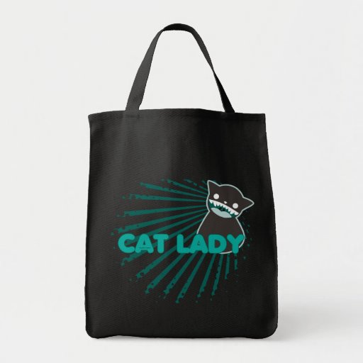 Not Crazy Cat Lady (ray halftone) Canvas Bags