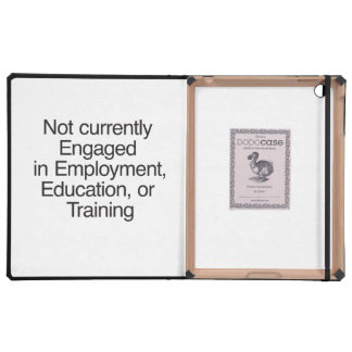 Not currently Engaged in Employment.ai iPad Case