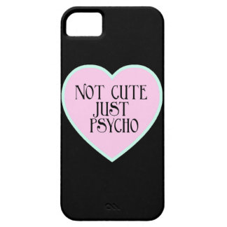 Not cute just Psycho pink+blue mask b iPhone 5 Covers