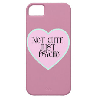 Not cute just Psycho pink+blue mask p Barely There iPhone 5 Case