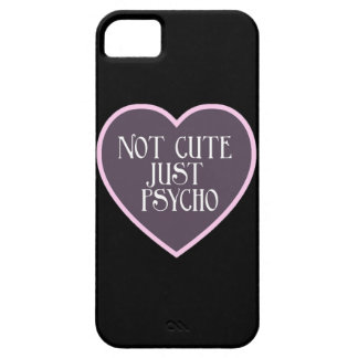 Not cute just Psycho pink+dark purple mask b Case For The iPhone 5