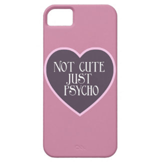 Not cute just Psycho pink+dark purple mask p iPhone 5 Cover
