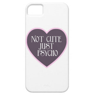 Not cute just Psycho pink+dark purple mask w iPhone 5 Cases