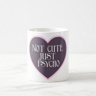 Not cute just Psycho pink+dark purple mug