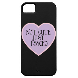 Not cute just Psycho pink+purple mask b iPhone 5 Cases