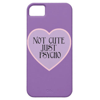 Not cute just Psycho pink+purple mask p iPhone 5 Case