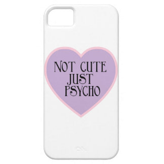 Not cute just Psycho pink+purple mask w iPhone 5 Cover