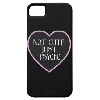 Not cute just Psycho purple+black mask b iPhone 5 Case