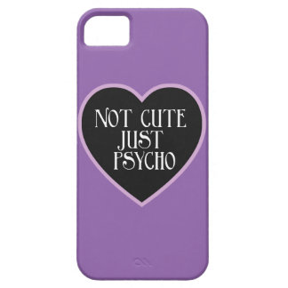 Not cute just Psycho purple+black mask p iPhone 5 Cases