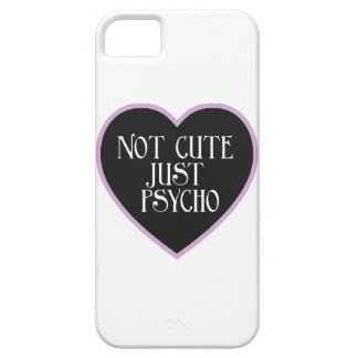 Not cute just Psycho purple+black mask w iPhone 5 Covers