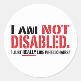 Not Disabled Sticker