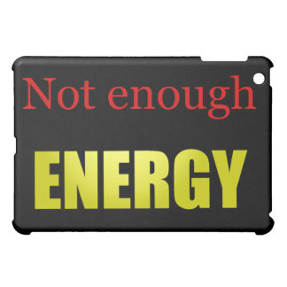 Not enough energy black iPad mini covers