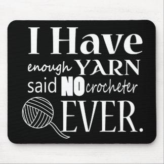 Not Enough Yarn Crochet Crafts Dark Mouse Mat
