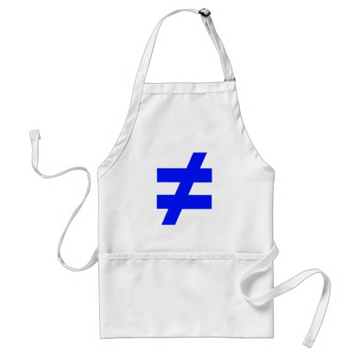 not equal apron