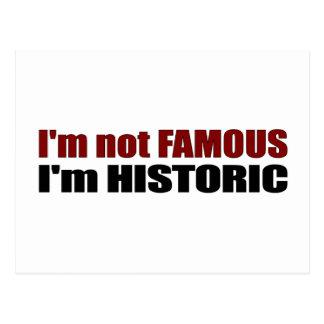 Not Famous I'M Historic Postcard