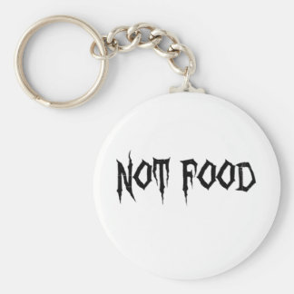 Not Food Basic Round Button Key Ring
