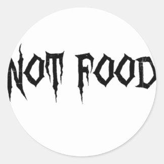 Not Food Round Sticker