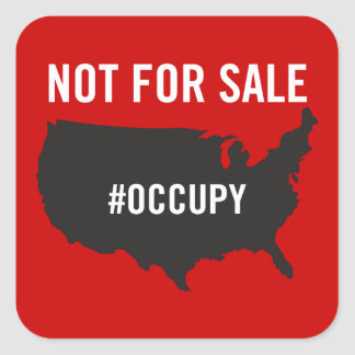 Not For Sale - Occupy Wall Street - We are the 99% Sticker