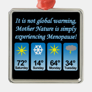 Not Global Warming-Menopause.png Christmas Tree Ornaments