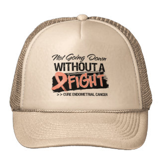 Not Going Down Without a Fight Endometrial Cancer Trucker Hats