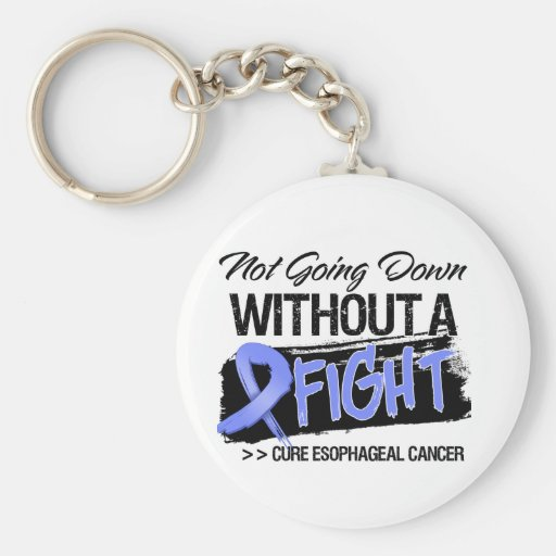 Not Going Down Without a Fight - Esophageal Cancer Key Chains
