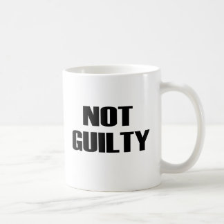 NOT GUILTY BASIC WHITE MUG