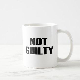 NOT GUILTY COFFEE MUG