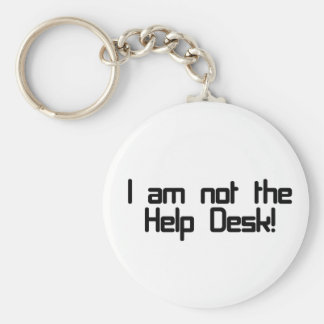 Not Help Desk Basic Round Button Key Ring