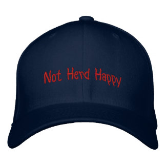 Not Herd Happy Embroidered Baseball Cap