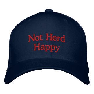 Not Herd Happy Embroidered Hat