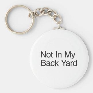 Not In My Back Yard Key Chain