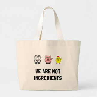Not Ingredients Large Tote Bag