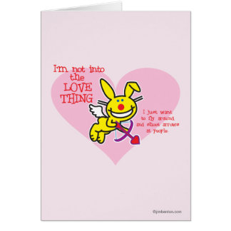 Not Into The Love Thing Greeting Cards