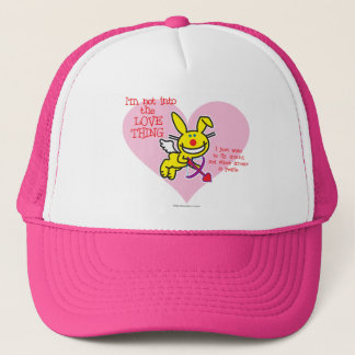 Not Into The Love Thing Trucker Hat
