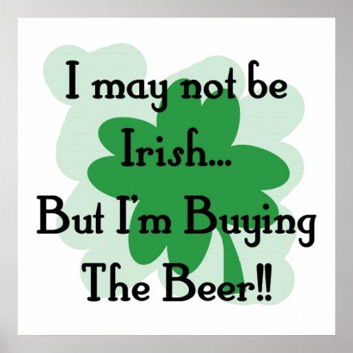 not irish but buying poster