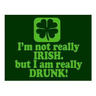 Not Irish Just Drunk Postcard