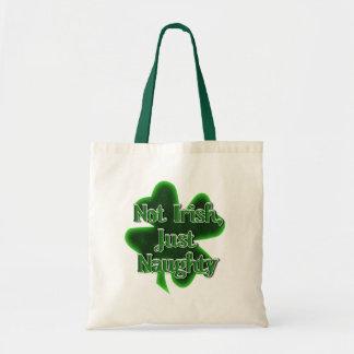 Not Irish, Just Naughty Canvas Bag
