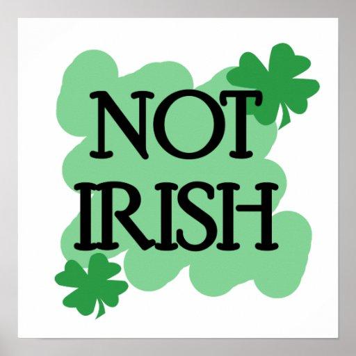 not irish poster