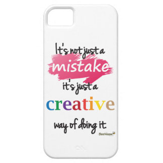 Not just a mistake, a creative way iPhone Case