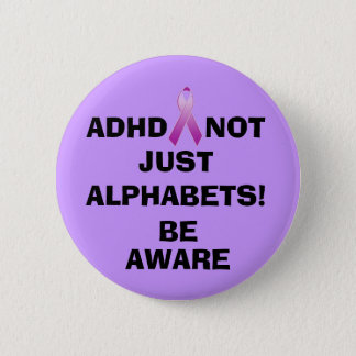 NOT JUST ALPHABETS!, BE,... 6 CM ROUND BADGE