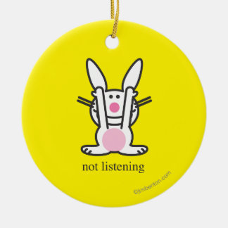 Not Listening Christmas Ornament