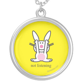 Not Listening Silver Plated Necklace