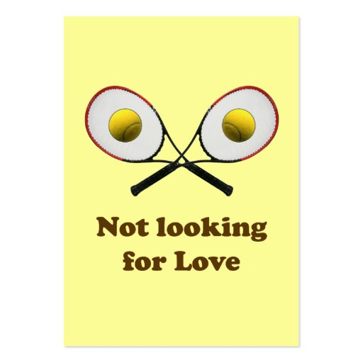 Not Looking for Love Tennis Business Card