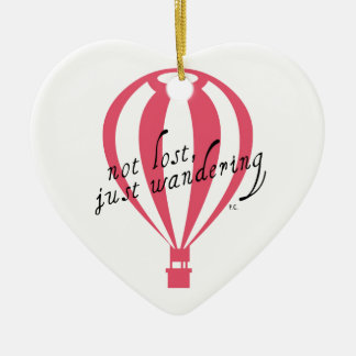 Not Lost, Just Wandering Travel Slogan Christmas Ornament